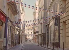 «180 Drapeaux pour la liberté d'expression» (Jour de fête et de l'Ovalie rue des Canettes) Thierry Duval