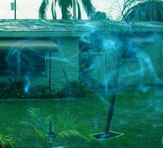 Ectoplasm ghost picture taken in Florida recently. I can see a face in this gamma adjusted image.