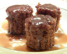 Warm Gingerbread Cake with Caramel Sauce