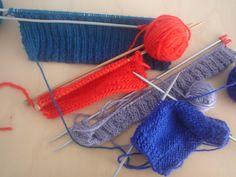 Sjaals en mutsen in wording: zo oefenen wij de tricot- en boordsteek.