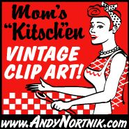 www.AndyNortnik.com  Retro clip art, in retro and vintage styles. Instantly download Royalty-free, scalable, vector and web-ready retro clip art, vintage clip art and T-shirt art! A classic collection of advertisements, signs, and logos from the thirties, forties and fifties including WWII pinup girls, mascots, pop culture designs and bowling art from the atomic age. Created specifically for embroidery software pattern digitizers, graph...