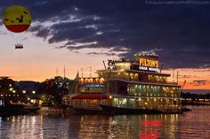 Fulton's Crab House at Downtown Disney.  Great food and Great way to get away from the Noise and Congestion of WDW