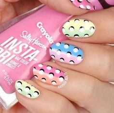 ✨LINK IN BIO✨ to check out how to do these easy dot nails plus swatches of Spring Fling Collection with… Dot Nail Art, Polka Dot Nails, Nail Art Diy, Diy Nails, Manicure, Simple Nail Art Videos, Nail Art Designs Videos, Easter Nail Designs, Easter Nail Art