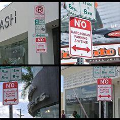 "Plastic Jesus, ""No Kardashian Parking"" (2015), Los Angeles, various locations."