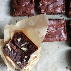 Brownies with brown butter and dark chocolate.