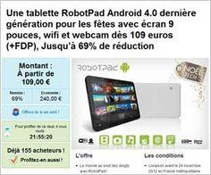 Tablette RobotPad V3 Android 9 pouces à partir de 119 euros frais inclus (faire vite).