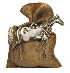 This graceful horse ornament with white pom poms makes a stunning gift trimming and looks beautiful decorating an equestrian theme tree. x White hanging pom poms Silver Tin Bag sold separately Cowgirl Birthday, Cowgirl Party, Equestrian Decor, Equestrian Style, Barn Parties, Horse Party, Silver Ornaments, Pony Party, Derby Party