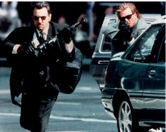 """Robert De Niro, Val Kilmer, """"Heat"""", Michael Mann, 1995."""