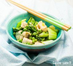 Recette minceur : wok légume vert