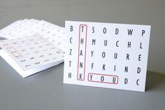 delia creates: Free printable thank-you cards.