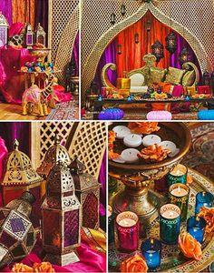 Moroccan inspired Sangeet decor. Love It?
