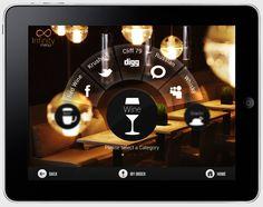 Infinity Menu App for iPad by Barjinder Singh, via Behance