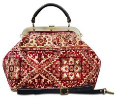 """ESCULAP Treillage Red - Large Classic framed """"Doctor"""" Gladstone bag Made of Carpet® http://www.amazon.co.uk/dp/B00K3T1MRI/ref=cm_sw_r_pi_dp_y28kwb1S6DZ31"""