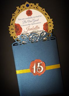 Beauty and the Beast Inspired Invitations - 10ct. by ArtsyFartsyMommy07 on Etsy