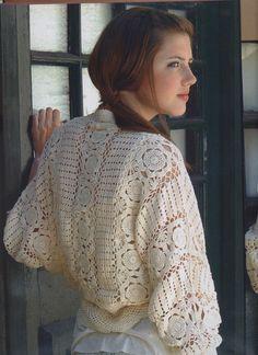 Crochê Tricô - Gráficos: Bolero Magnífico em Crochê