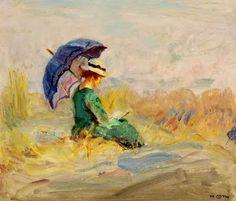 Goth, Móricz (Maurice) (1873-1944) Ada lezend in de duinen