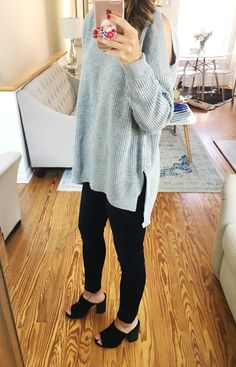 Grey Cold Shoulder S
