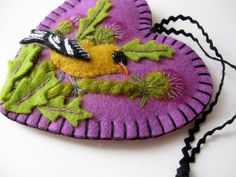Goldfinch and Thistles Ornament Made to Order by SandhraLee