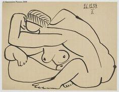 Pablo Picasso - Etude pour 'Les Femmes d'Alger' d'Après Delacroix, 1954
