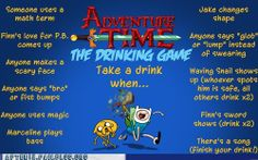 adventure time drinking game