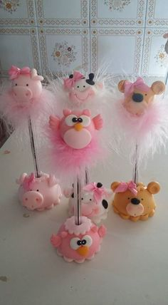 Fondant Animals, Clay Animals, Fimo Clay, Polymer Clay Charms, Diy Crafts For Girls, Crafts To Make, Clay Bear, Polymer Project, Diy Y Manualidades