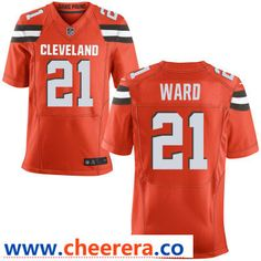 d1f3dda6379 Men s Cleveland Browns  21 Denzel Ward Orange Alternate Stitched NFL Nike  Elite Jersey