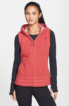 New Womens The North Face Fleece Jacket Crescent Vest Pink S Small