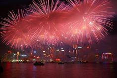 Chinese New Year Fireworks in HongKong