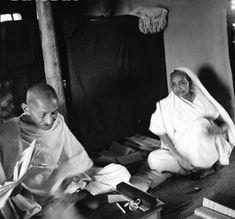 Gandhi and Kasturba seated - Kasturba Gandhi - Wikipedia