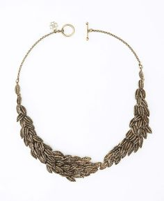 Necklace Option #1: Botanical Leaf Statement Necklace - Ann Taylor