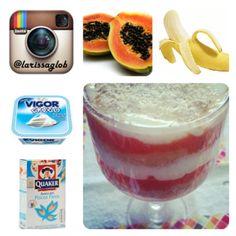 Frutas com iogurte