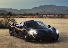 McLaren P1 development vehicle shown in extreme desert heat as testing program nears completion.