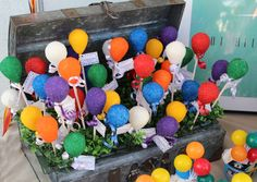 """Cake pops at a Balloon """"UP"""" Party #balloon #upparty"""