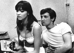 Anna Karina and Jean-Claude Brialy on the set of Une Femme Est Une Femme, 1961