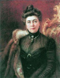 Маковский Константин .Портрет А.И.Сувориной, 1880