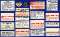 30+ Old Salida Colorado Pharmacy Medicine Bottle Labels Other photo