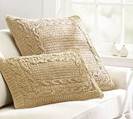 Pottery Barn--inspiration--Paper Crochet Pillow Covers