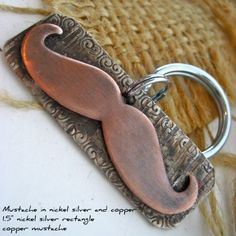 Mustache Dog Tag Engraved