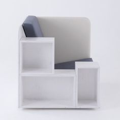omg sitting basically in a book shelf. amazing chair for reading and storing books and magazine organization too! OpenBook | TILT Products