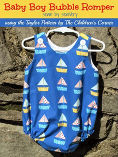 sewVery: Children's Corner Baby Boy Bubble Rompers