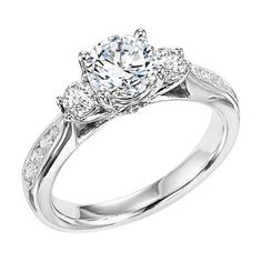 The Classic Three Stone Engagement Ring with Channel Set Side Diamonds @ Wedding Day Diamonds