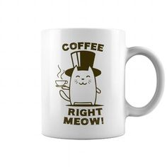I Love Coffee Right Meow Cat Mug Shirts & Tees