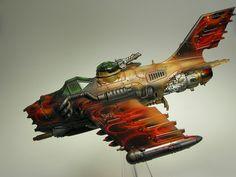 Ork Dakkajet/Burnabommer by T Markham, via Flickr