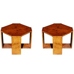 Johan Tapp Burled Carpathian Elm End Tables | From a unique collection of antique and modern end tables at http://www.1stdibs.com/furniture/tables/end-tables/