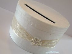 Wedding Card Box Gift Card Holder  Vintage by LaceyClaireDesigns, $72.00