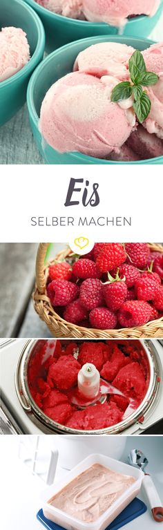 Eis selber machen - so funktioniert's mit & ohne Maschine Homemade ice cream definitely tastes best in every variation. We explain to you what is important when making ice cream in our in-house Ice Cream Freeze, Make Ice Cream, Homemade Ice Cream, Ice Cream Toppings, Ice Cream Recipes, Different Ice Cream Flavors, Ice Cream Factory, Keto Recipes, Healthy Recipes