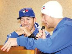 My favs, JP Arencibia & Brett Lawrie! He Got Game, Toronto Blue Jays, Hilarious, Baseball, Celebrities, Sports, Eye Candy, Twitter, Random