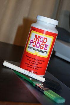 Mod Podge Photos on Wood