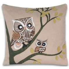 @Overstock - This beautiful Adley pillow is a wonderful addition to home décor. The cover is cotton while an internal poly fill provides further softness.http://www.overstock.com/Home-Garden/Adley-Owl-16-x-16-inch-Decorative-Pillow/7619634/product.html?CID=214117 $37.99