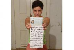 """Dana Bakdounis, jeune militante syrienne, a publié sur Facebook une photo d'elle-même sans son voile, dans le cadre de la campagne """"je soutiens le soulèvement des femmes dans le monde arabe""""."""